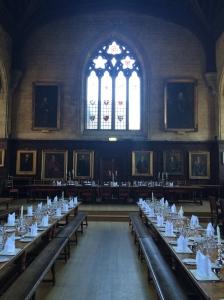 Balliol College hall.